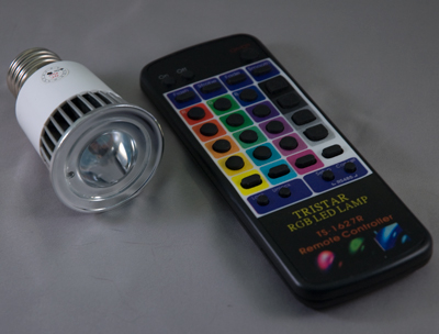 For screw-based retrofit applications, this lamp and remote make color changing painless.