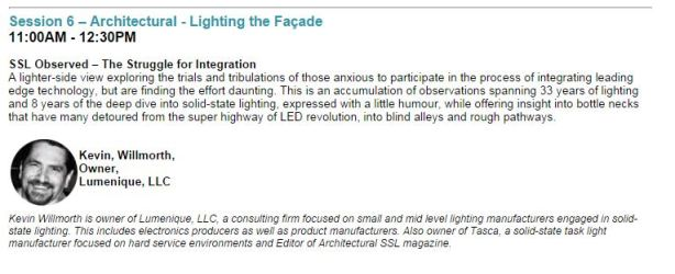 This is the presentation brief for the LED Show, Thursday September 18