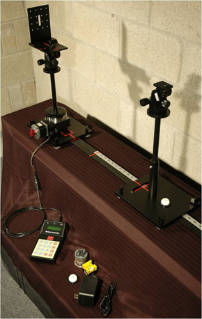 An earlier example of a bench-top system was designed for testing of small light engines and LED optics, shows the same basic configuration in smaller scale.