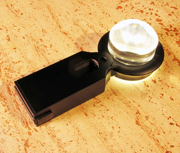 Adding a battery power pack to the Magnifier was found to be a desirable addition after finding the lighted unit so useful.