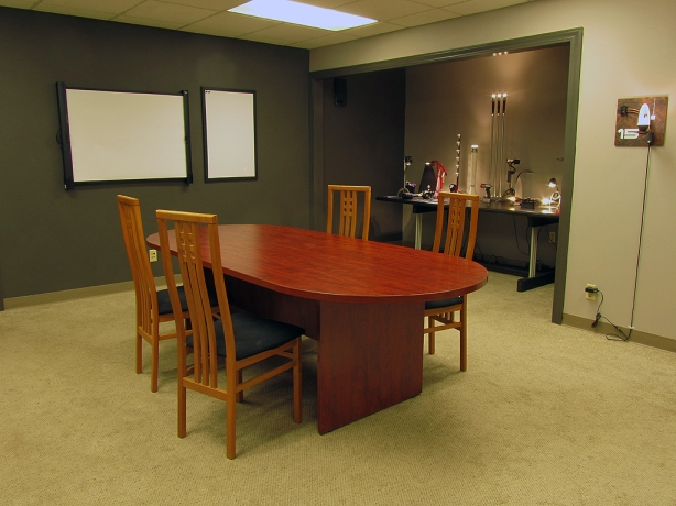 This is our conference/training/demo room. We'll be offering small courses o SSL technology here, as well as using it to brainstorm customer solutions and demonstrate new ideas.