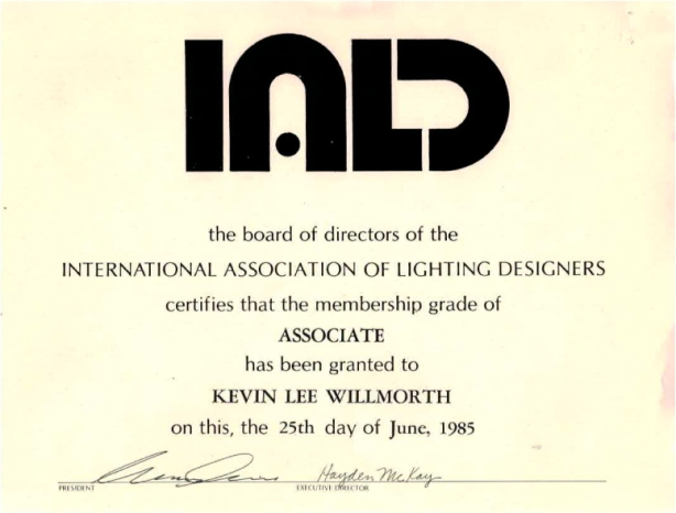My first IALD certificate. For me a symbol of belonging to something larger than my individual efforts.